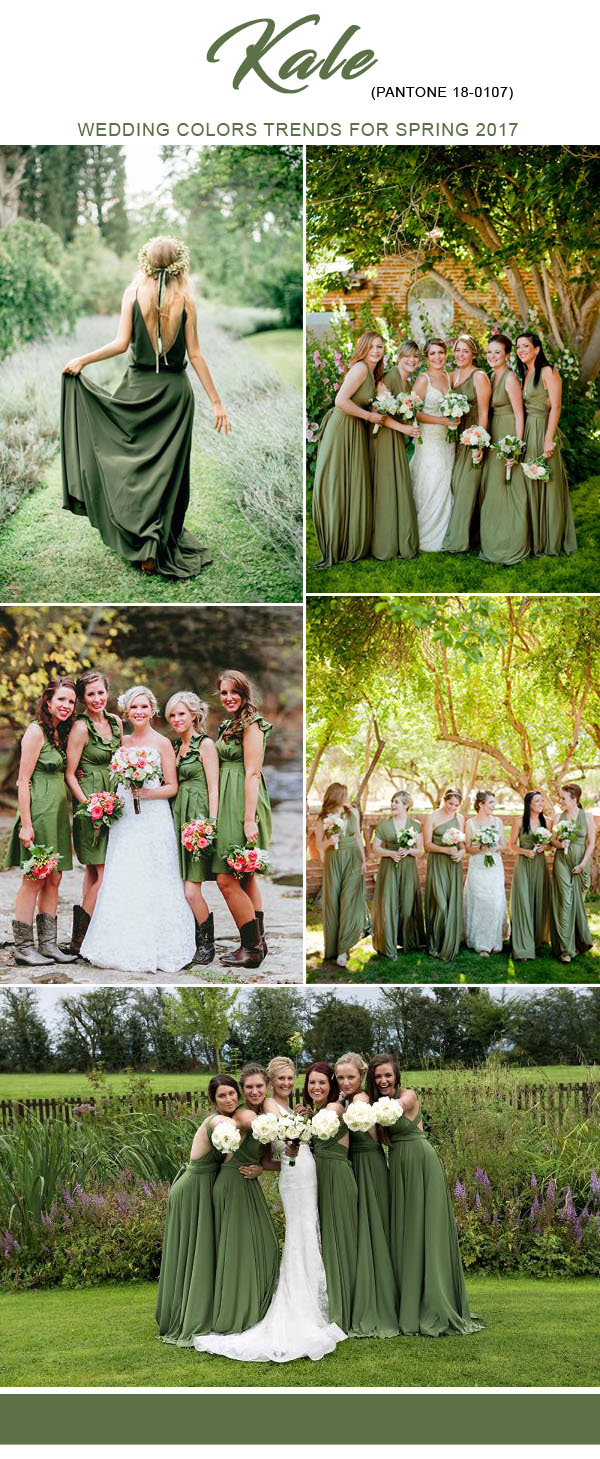2017 spring bridesmaid dresses colors trends by pantone