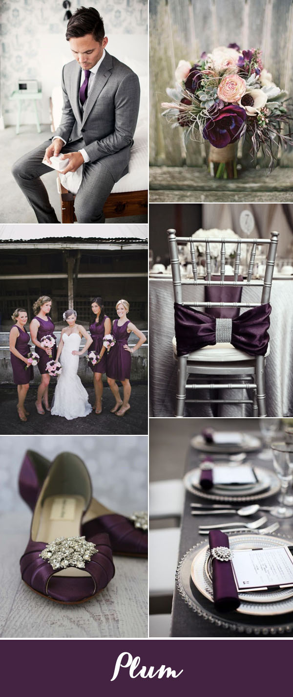 Clic Plum And Silver Wedding Color Ideas