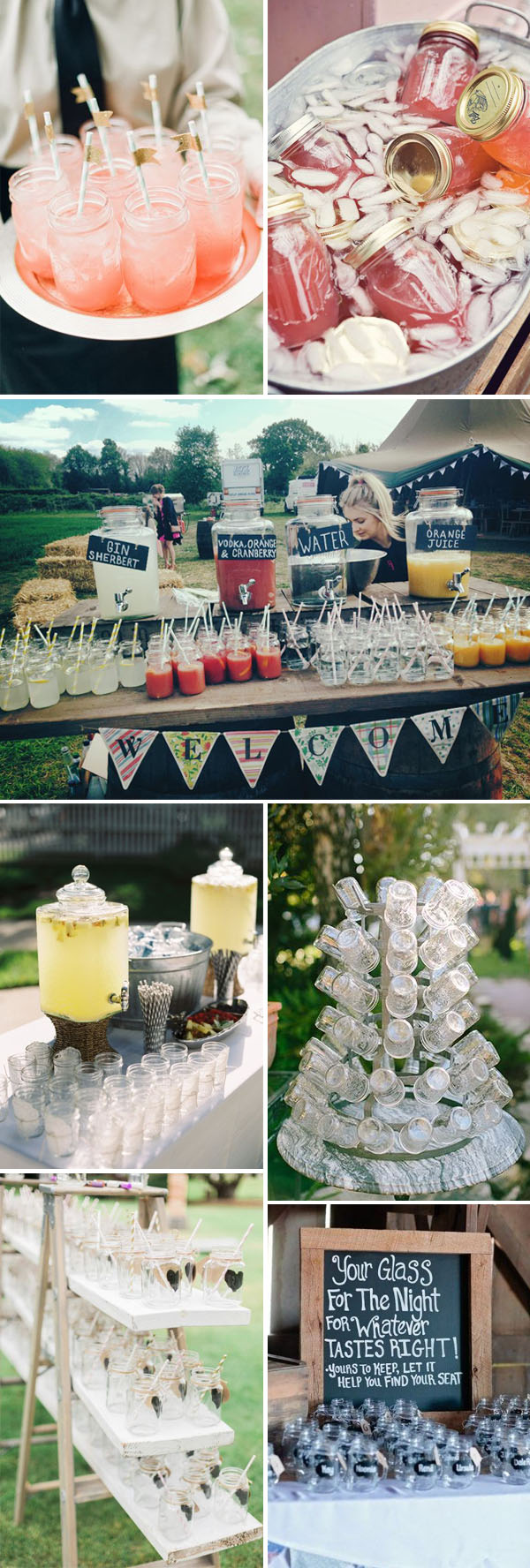 how to serve your wedding drinks with mason jars