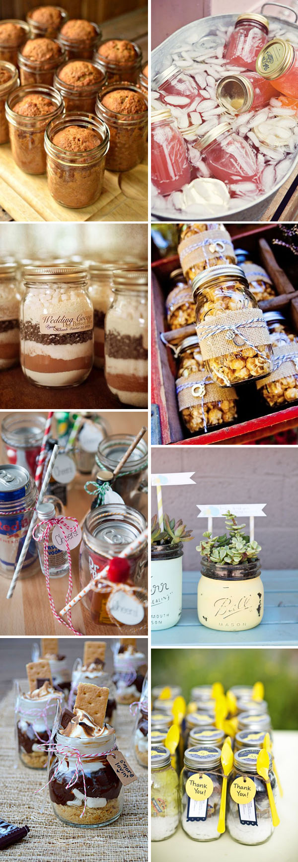 mason jar rustic wedding favor ideas