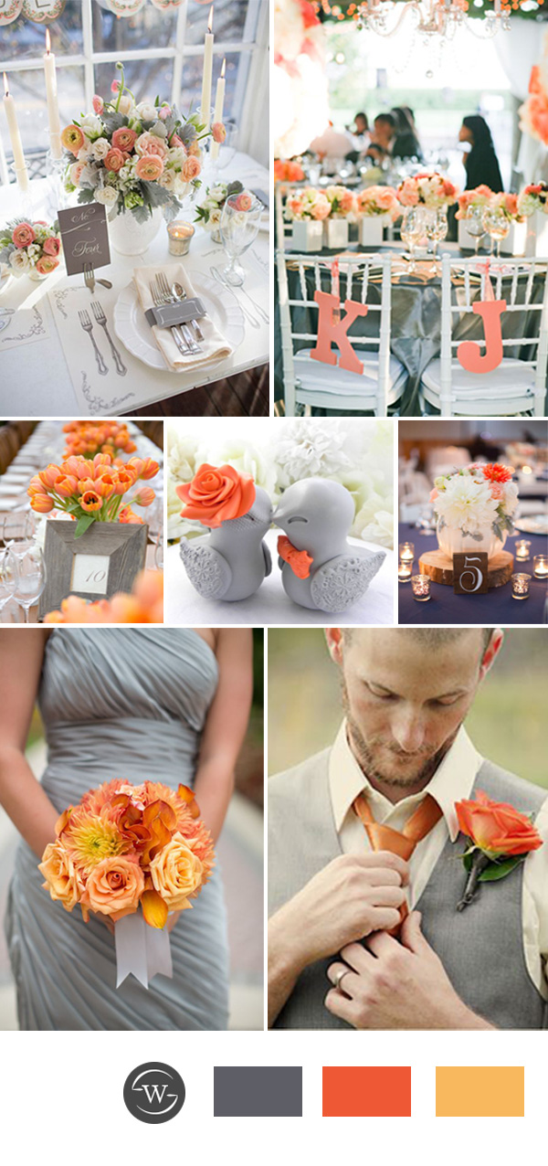 Grey Orange And Wedding Color Combos For Spring