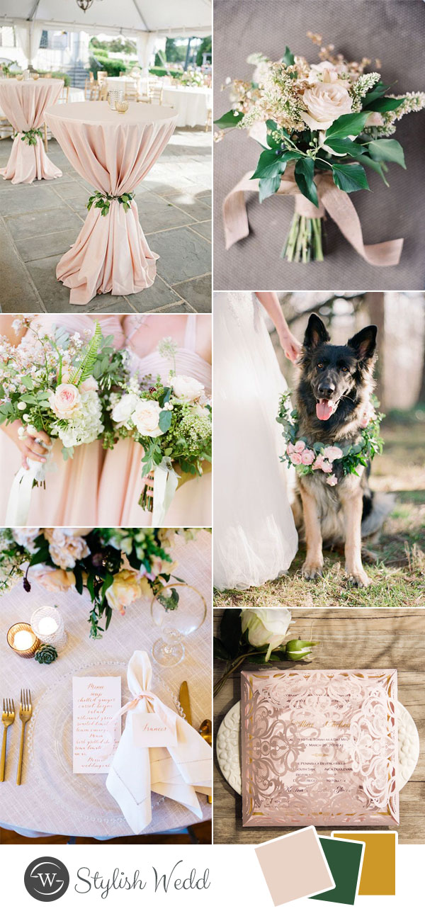 pink and greenery simple wedding ideas
