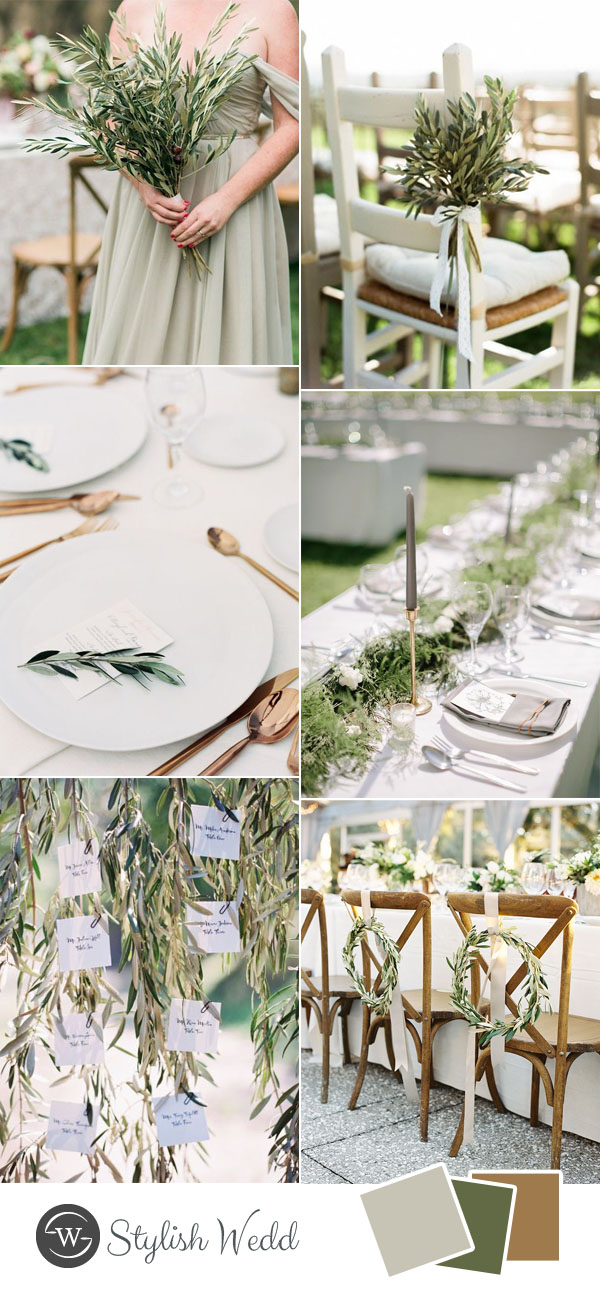 romantic minimalism greenery wedding inspiration