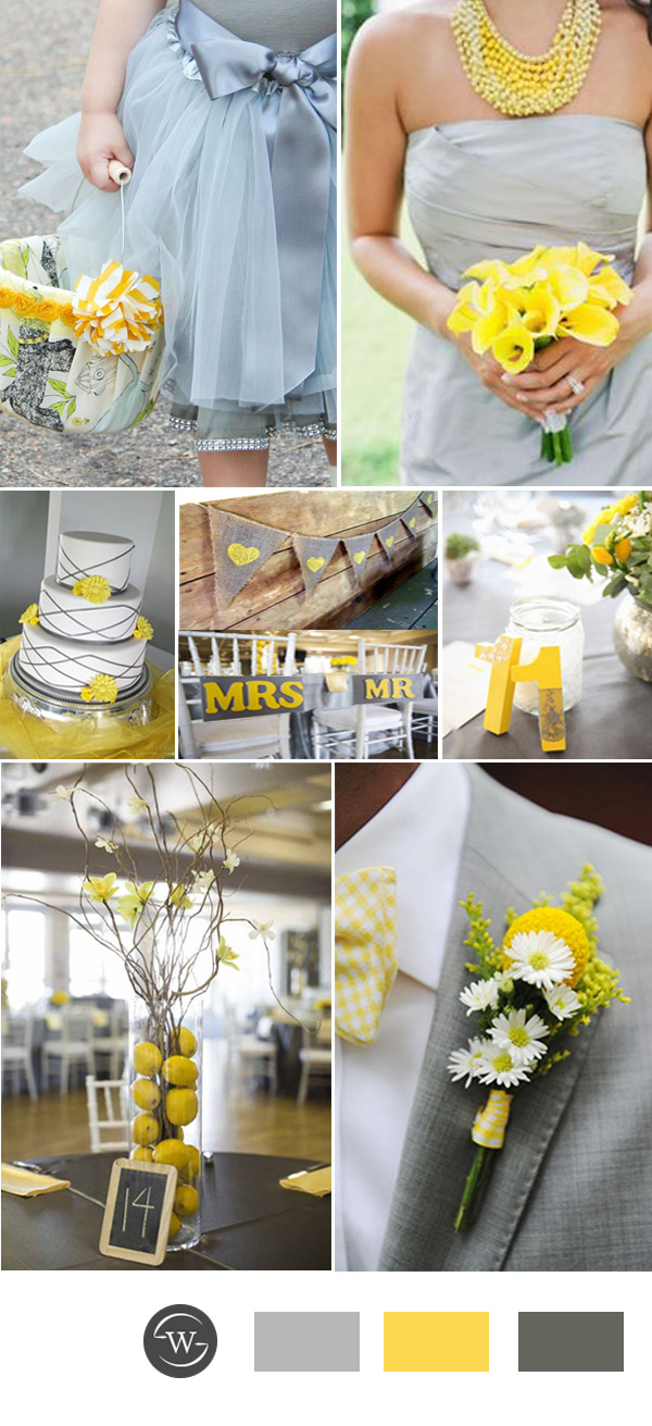 wedding ideas yellow and gray top 10 grey wedding color combination ideas for 28367