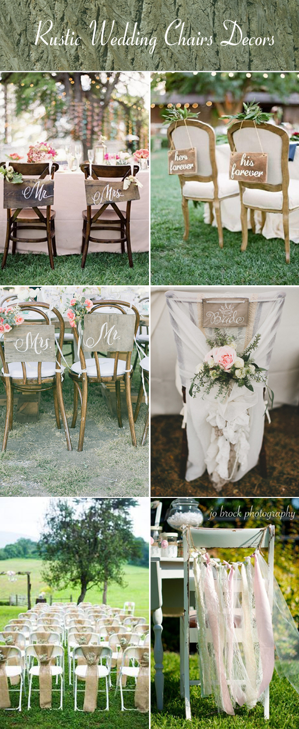 Creative wedding chairs decoration ideas