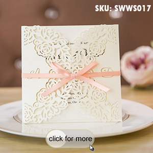 Elegant-Custom-Floral-Laser-Cut-Wedding-Invites-With-Peach-Ribbons-SWWS017