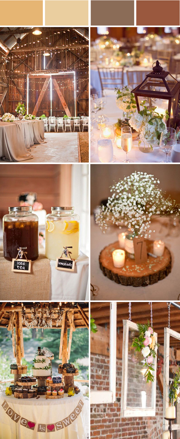 chic rustic barn wedding ideas with lights and candles