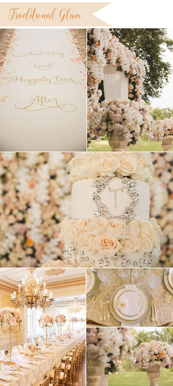 elegant and traditional fairytale wedding inspiration