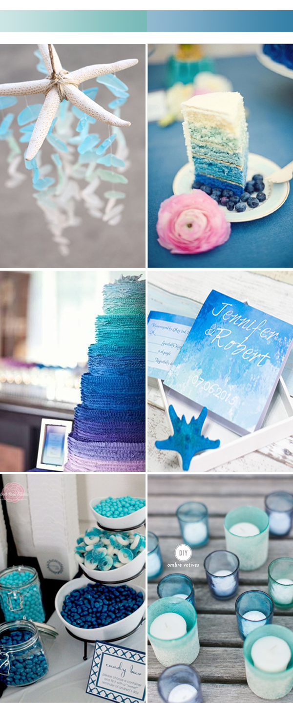 ombre blue wedding color ideas for 2017 spring