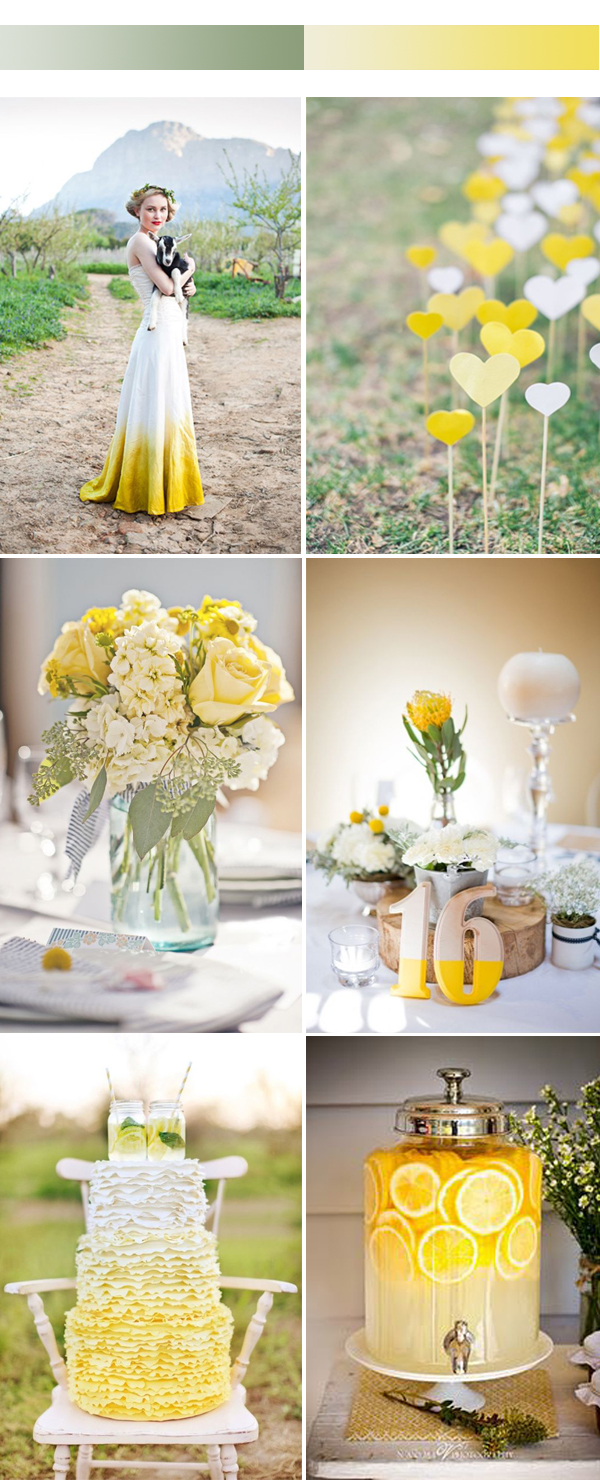ombre yellow wedding color inspiration for spring