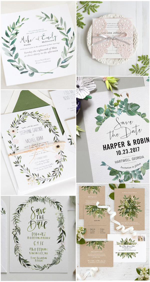 Awesome Wedding Invitations Ideas for Spring and Summer