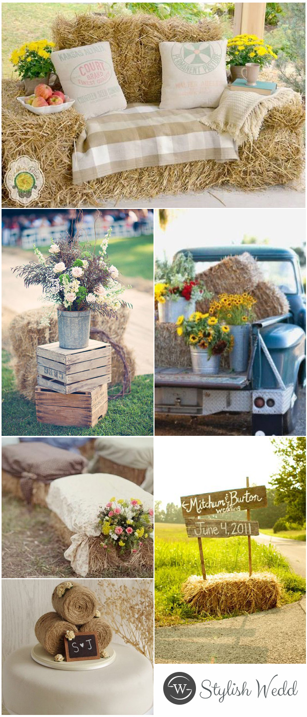 Chic Country Hay Bales Wedding Ideas For Outdoor