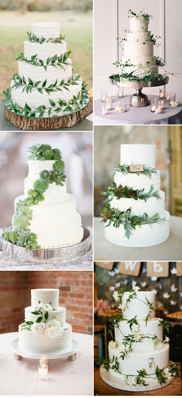 wedding cake nature pantone color of the year 2017 top 50 greenery wedding 23298