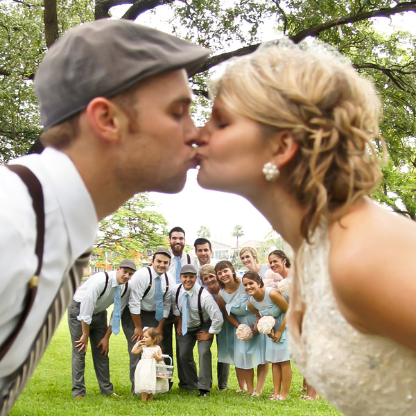The Kiss Shot of Bride and Groom