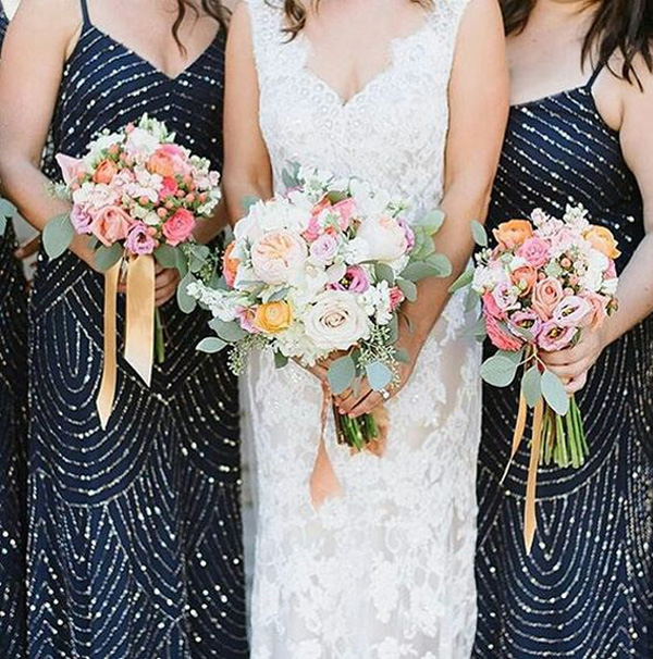 navy blue beading bridesmaid dresses for 2017 trends