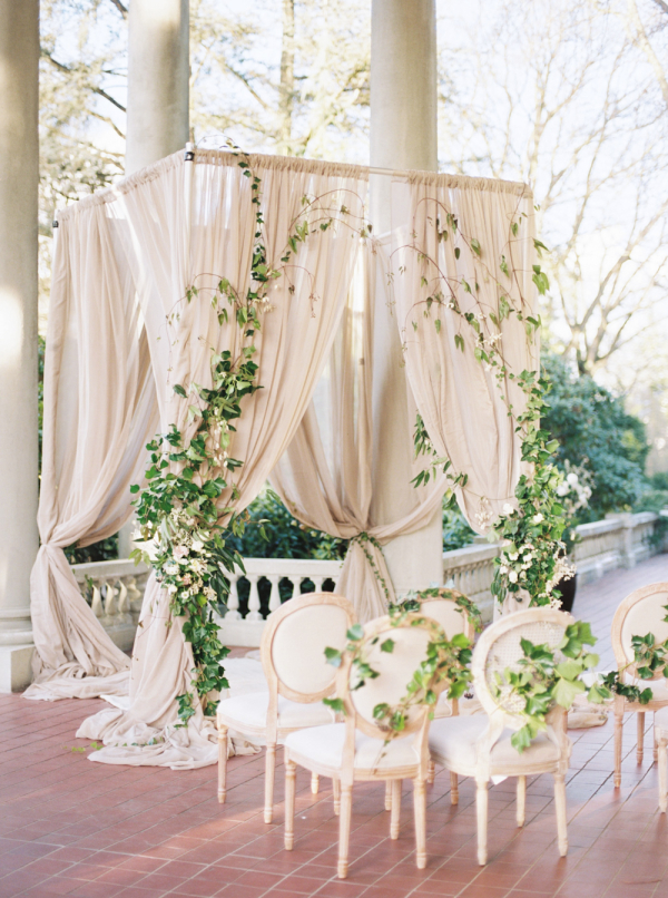 pretty-draped-wedding-ceremony-arbor