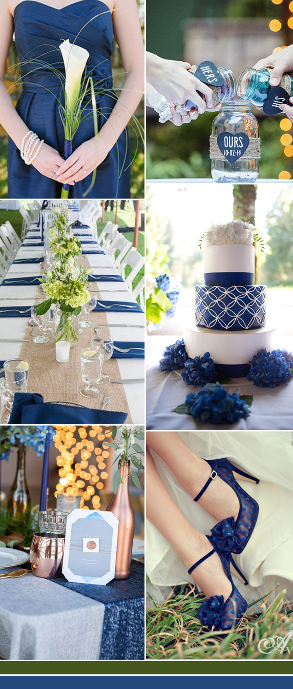 2017 real blue wedding colors inspiration ideas