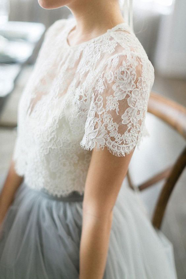 rustic-lace-bridesmaid-dress-with-flowing-chiffon-skirt