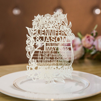 stylish papel picado inspired floral ivory laser cut wedding invitations