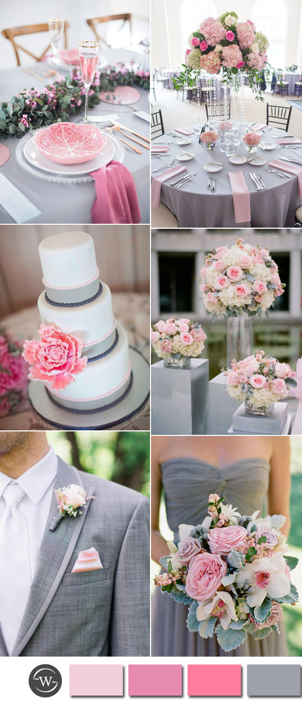 wedding ideas pink and grey six beautiful pink and grey wedding color combos with 28285