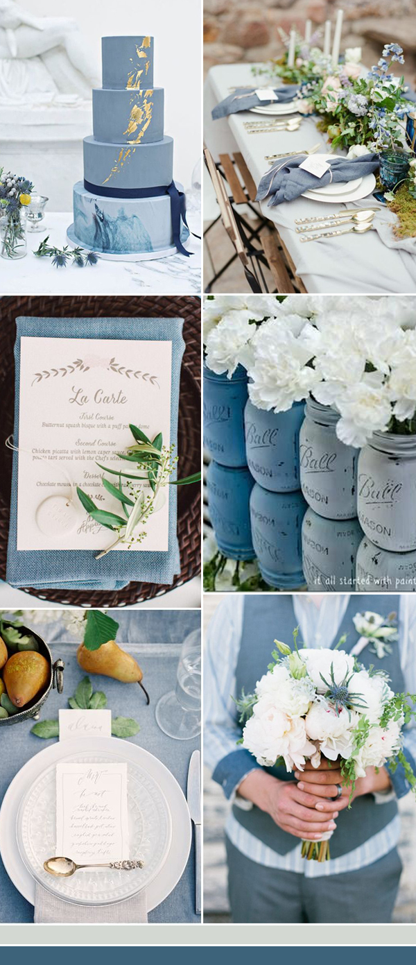 The Best Dusty Blue Wedding Color Ideas For 2017