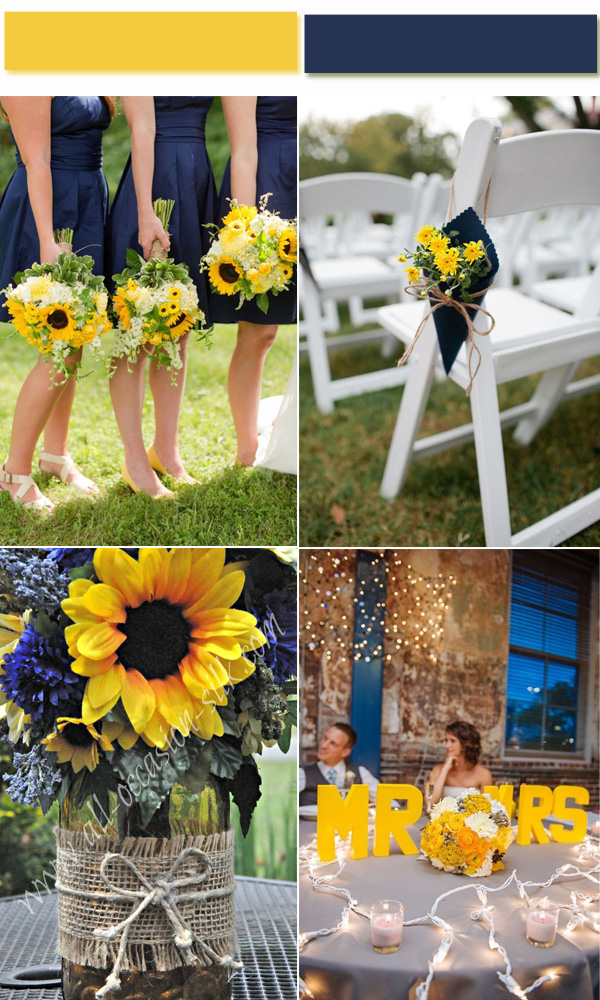 2017 Golden Globe Fashion Trends for Yellow Spring and Summer Wedding Color Ideas