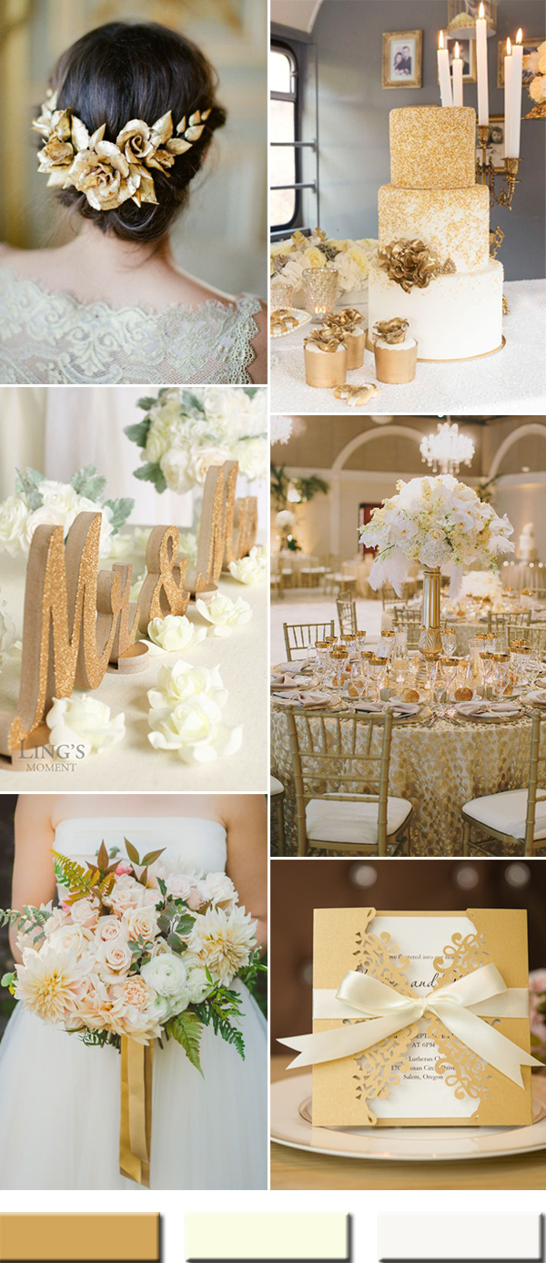 wedding ideas gold and white 2017 the best gold wedding colors combos trends stylish 28203