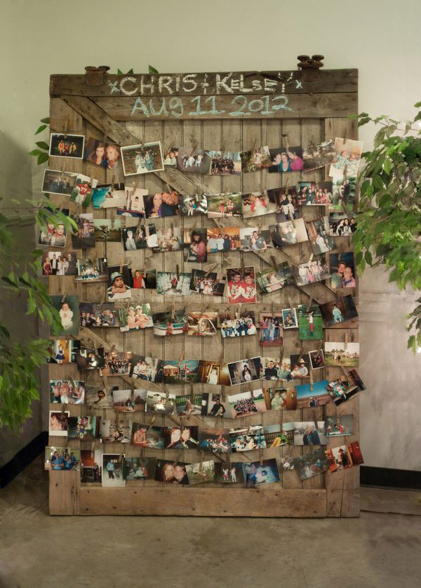 Country Chic Wedding Photo Display Ideas for Your Wedding Decorations