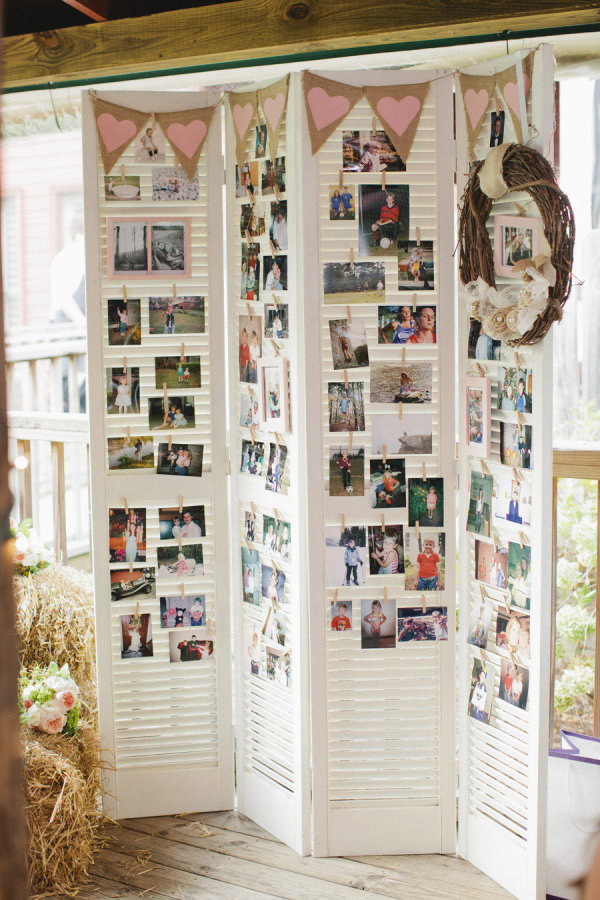 Creative Way to Display Your Photos with Shutters at Your Wedding