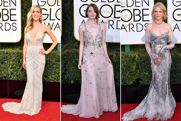 Elegant Shade of Silver from the 2017 Golden Globe Red Carpet