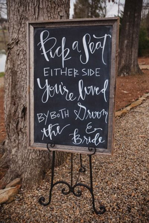 Framed Wedding Signs for Rustic Country Wedding Ideas
