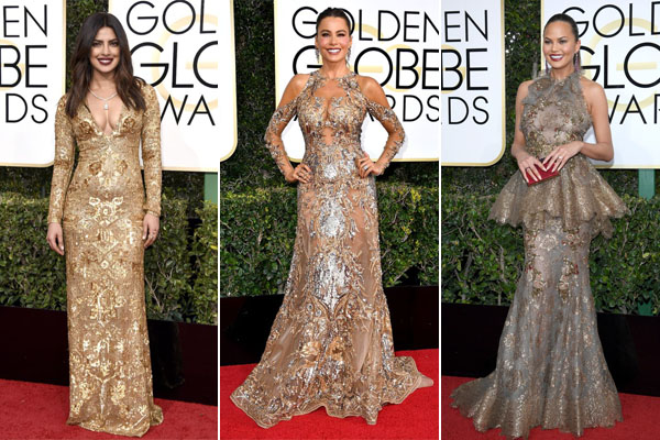 Gold Metallic Beats the Golden Globe 2017 Red Carpet