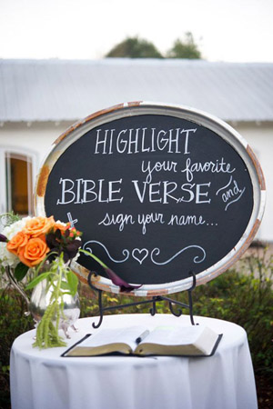 Personalized Guestbook Note on a Chalkboard Wedding Signs