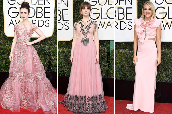 Pink Fashion Trends from The Golden Globe 2017 Red Carpet