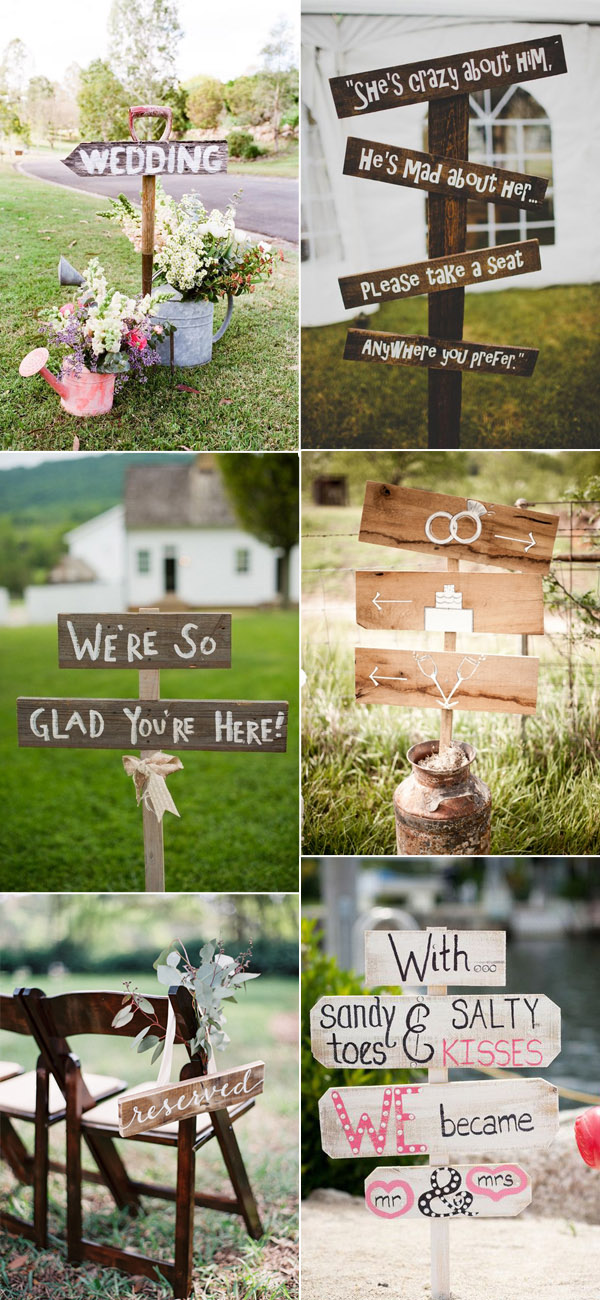 Use Wood Pallet to Create Rustic Wedding Signs for Your Country Wedding