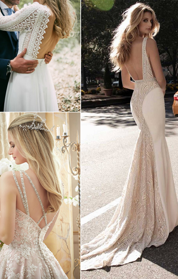 backless wedding dresses ideas for 2017 trends