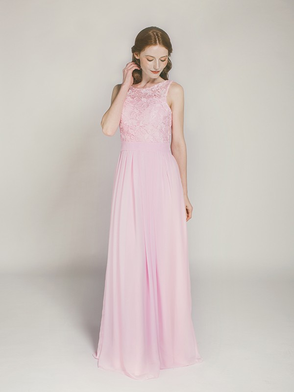 blush-floor-length-chiffon-and-lace-bridesmaid-dress-swbd008