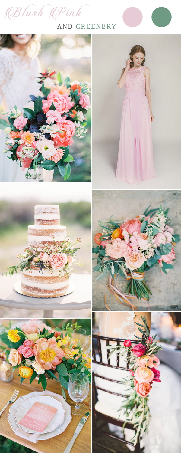 blush-pink-and-greenery-wedding-color-ideas-with-blush-lace-bridesmaid-dresses