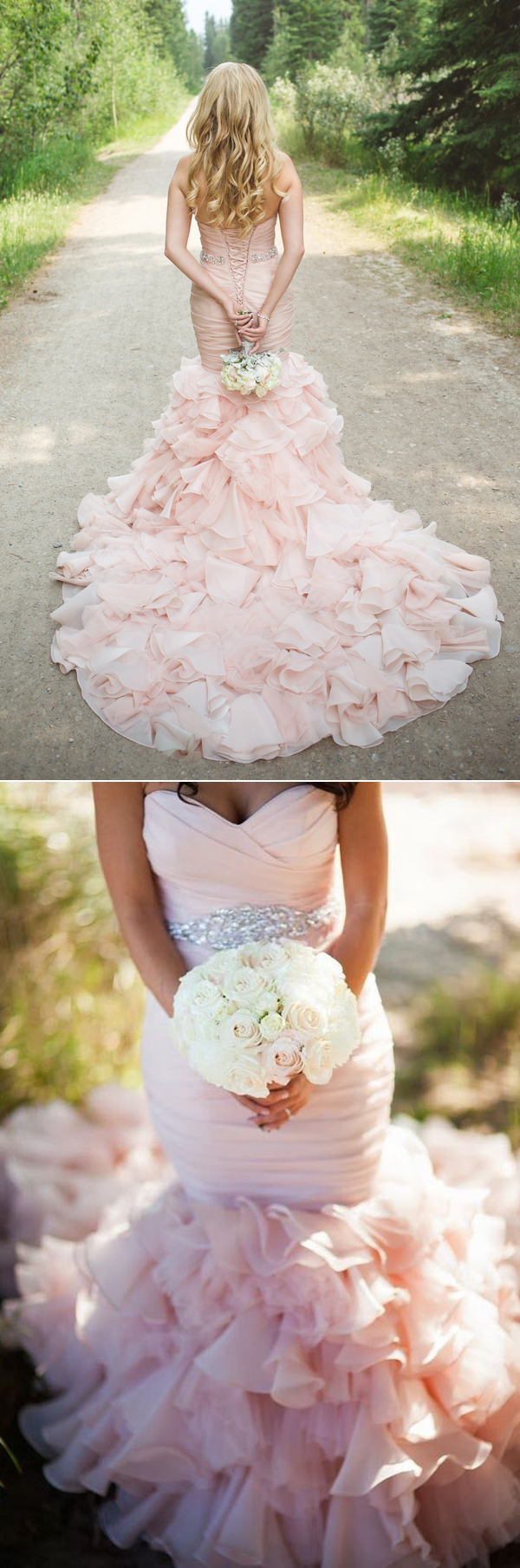 blush-pink-ruffled-wedding-dresses-for-2017-trends