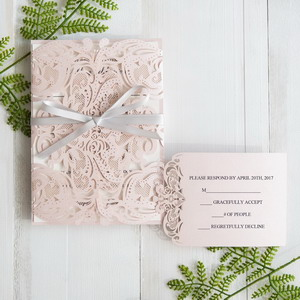 elegant-blush-pink-laser-cut-wedding-invitation-with-gray-band-swws034