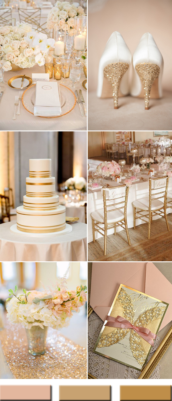 wedding ideas gold 2017 the best gold wedding colors combos trends stylish 28202