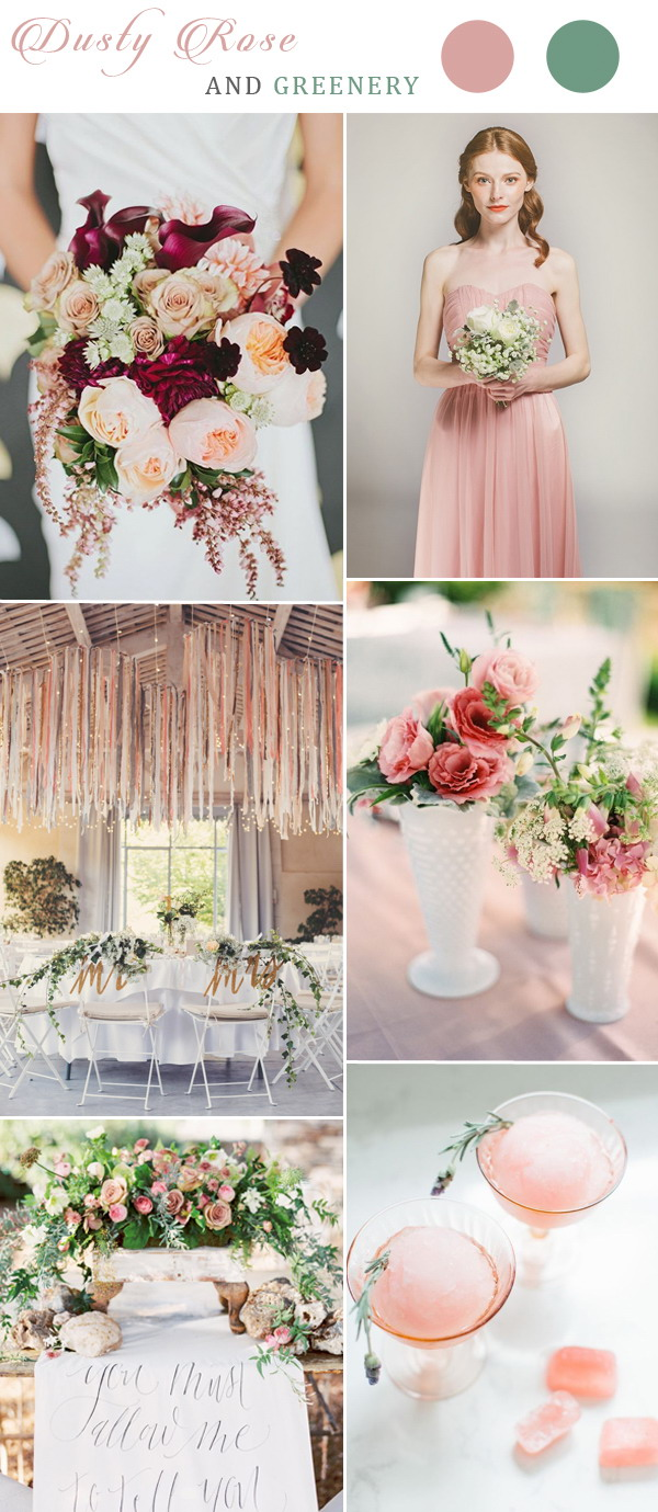 greenery-and-dusty-rose-wedding-color-inspiration-ideas-with-tulle-bridesmaid-dresses