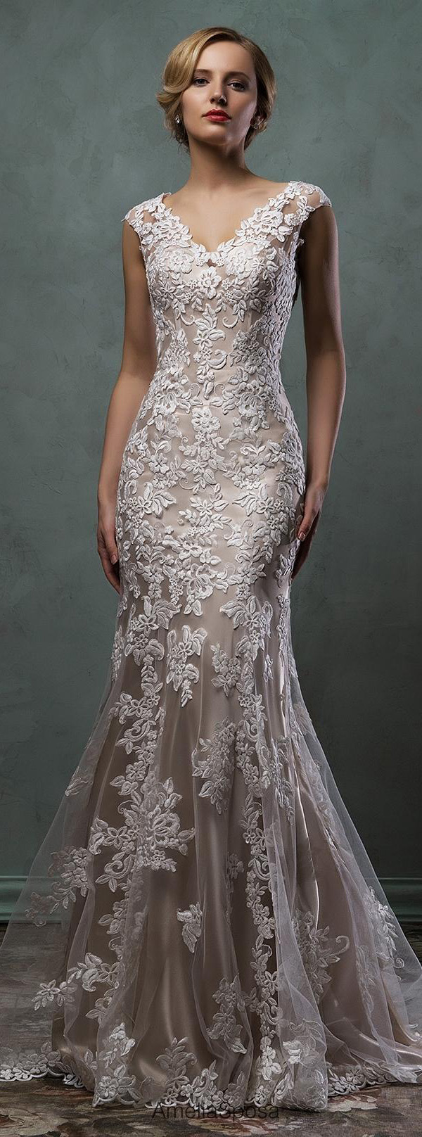 meimaid lace wedding dresses in long length