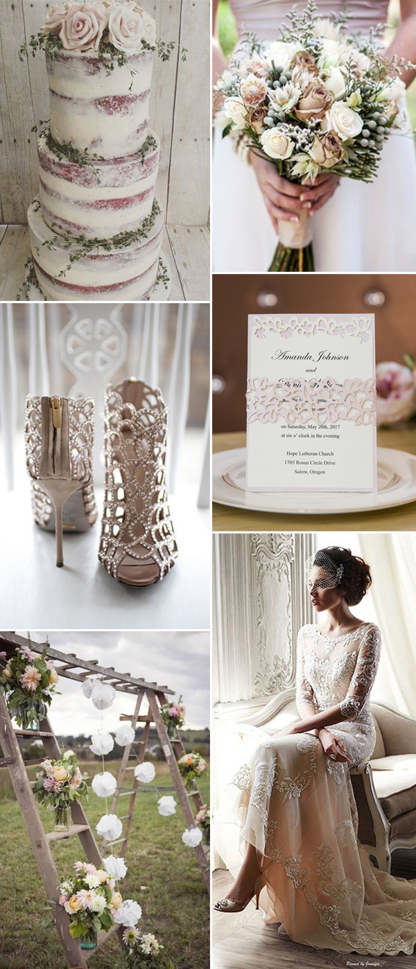 neutral wedding color ideas for 2017 with perfect invites