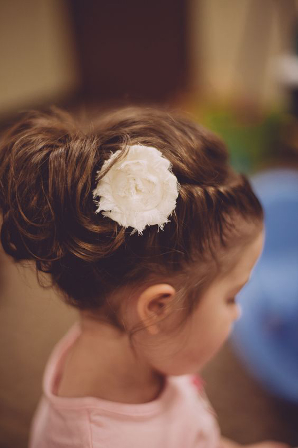 new updo hairstyles with flowers for little girls