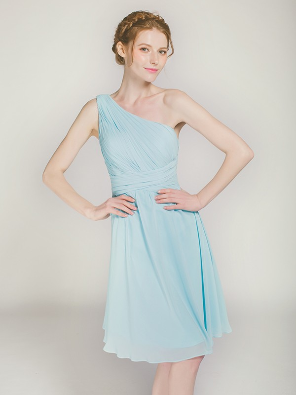 single-shoulder-blue-chiffon-bridesmaid-dress-in-cocktail-length-swbd013