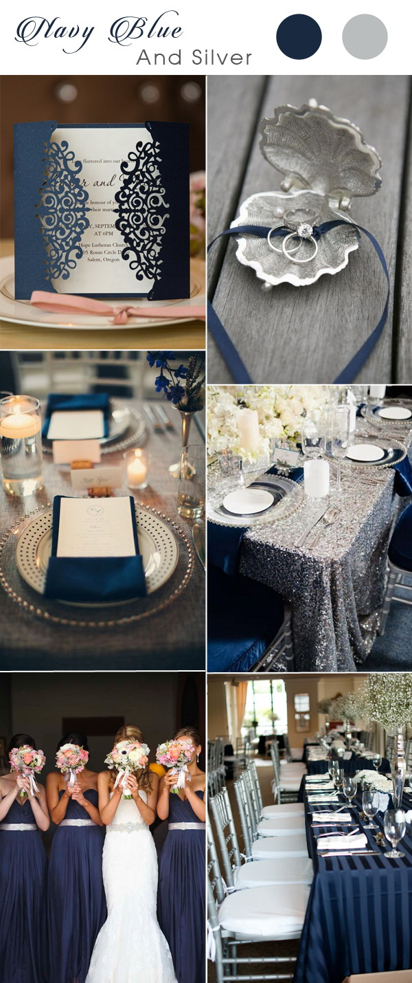 stunning-navy-blue-and-silver-wedding-color-inspiration-ideas-with-wedding-invite
