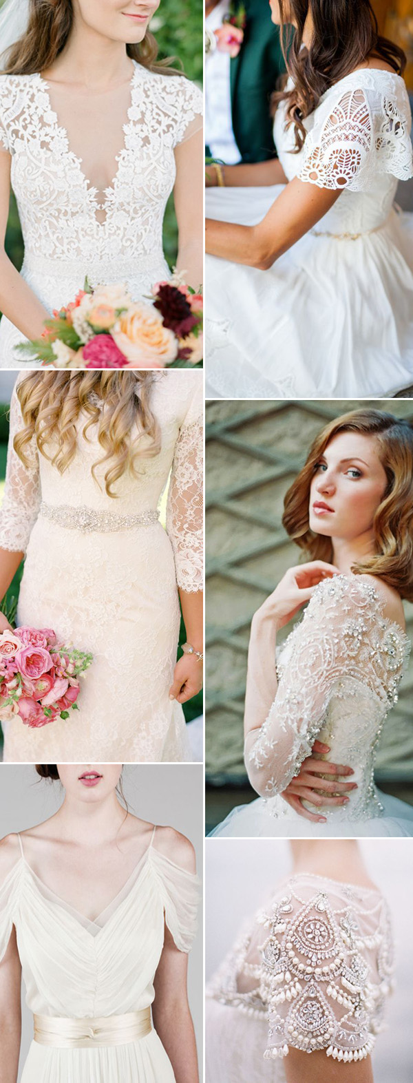 wedding dresses sleeves ideas & details for 2017 trends