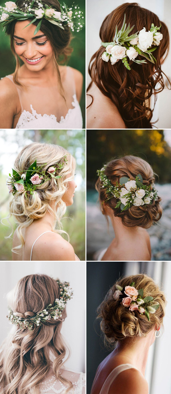 hair wedding styles with flowers flower wedding hairstyles hairstyles 9028