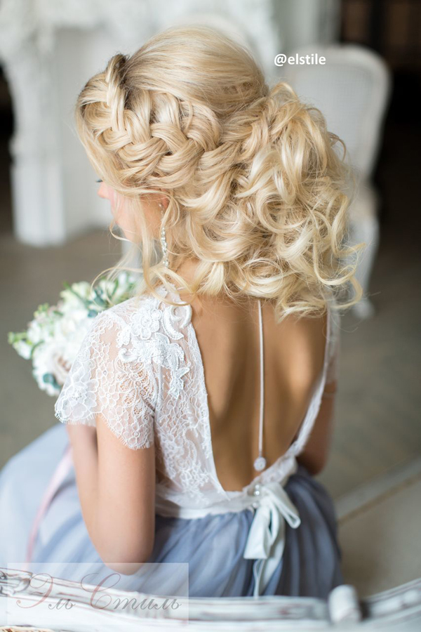 new weddng hairstyles with backless dresses